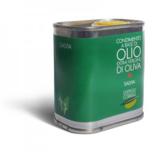 Olio extra vergine di oliva e salvia - Oleificio Corrias