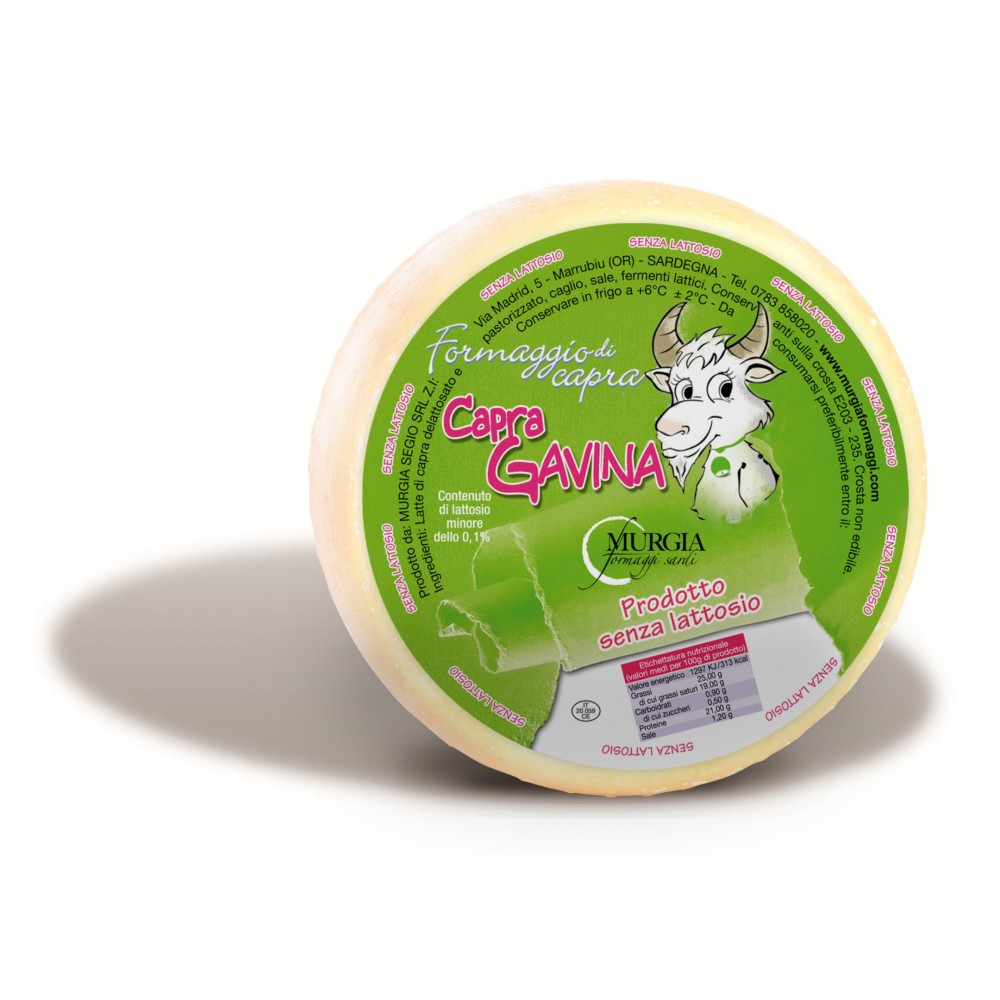 Formaggio caprino senza lattosio - Murgia Formaggi - Inke - Vendita  prodotti sardi online