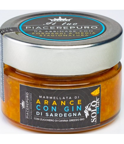 Orange marmalade with Gin of Sardinia - Piacere Puro