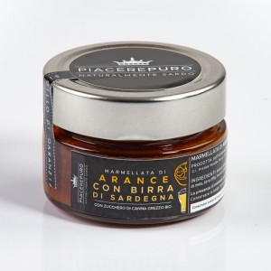 Orange marmalade with Sardinian brandy - Piacere Puro