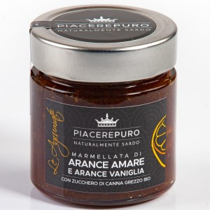 Figs jam from Sardinia and organic raw cane sugar - Piacere Puro