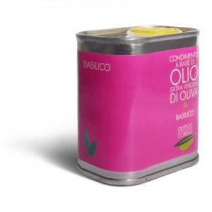 Olio extra vergine di oliva e basilico - Oleificio Corrias