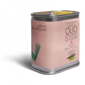 Olio extra vergine di oliva menta e erba cipollina - Oleificio Corrias